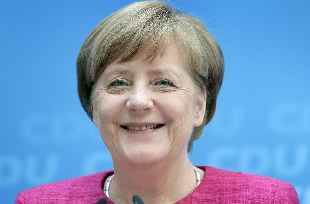 Hat derzeit gut lachen: Angela Merkel punktet derzeit bei den Bürgern wieder mit ihrem Image als Stabilitätsanker in der rauen See der Weltpolitik. Foto: AP