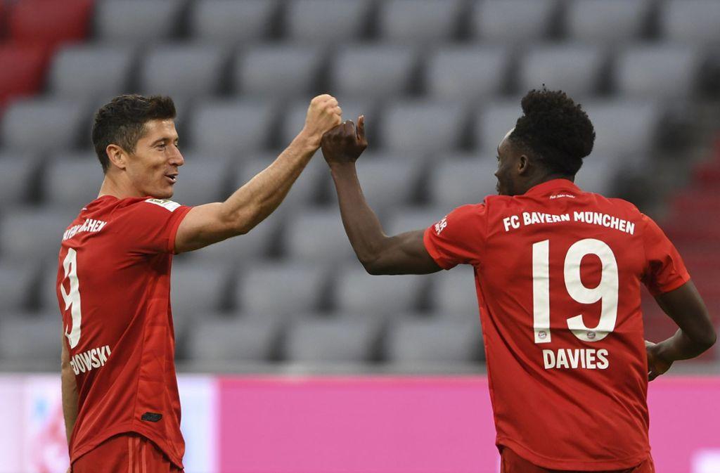 Der FC Bayern hat Fortuna Düsseldorf deklassiert. Foto: AP/Christof Stache
