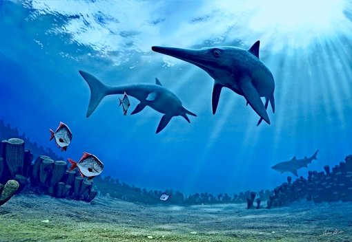 So sah es wohl aus, als vor Urzeiten Fischsaurier die Meere bevölkerten. Foto: dpa