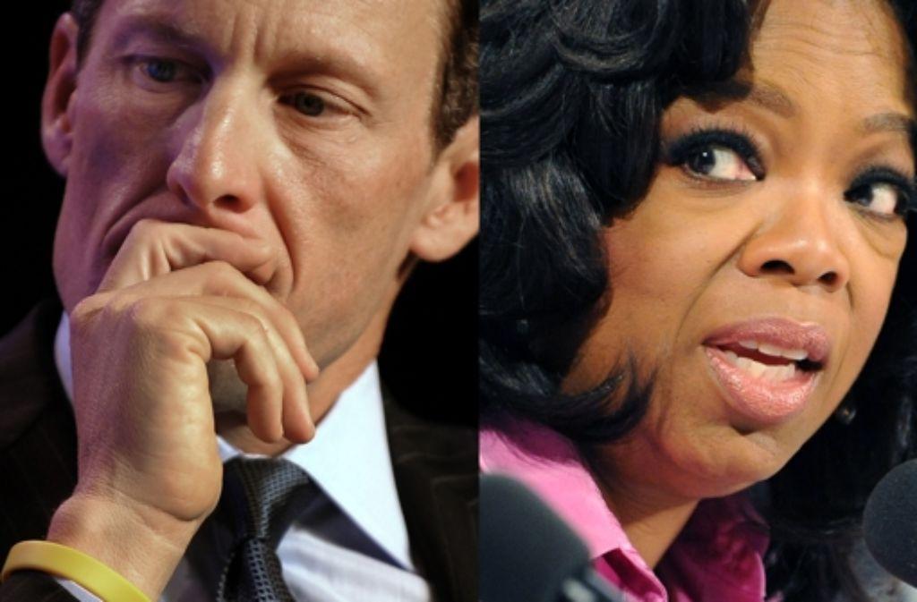 Am Donnerstag wird das Interview von Lance Armstrong bei Oprah Winfrey ausgestrahlt. Vorab hat der Radprofi sich dazu geäußert, was er der Star-Talkerin erzählt hat. Foto: AFP