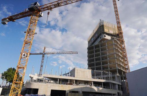 So laufen die Bauarbeiten am künftig höchsten Hochhaus Stuttgarts