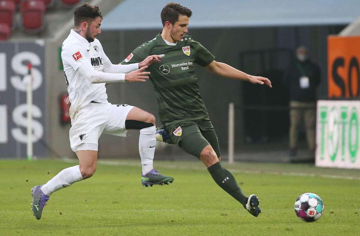Marc Oliver Kempf leitete mit einen 50-Meter-Pass das 2:0 für den VfB Stuttgart ein. Foto: Pressefoto Baumann