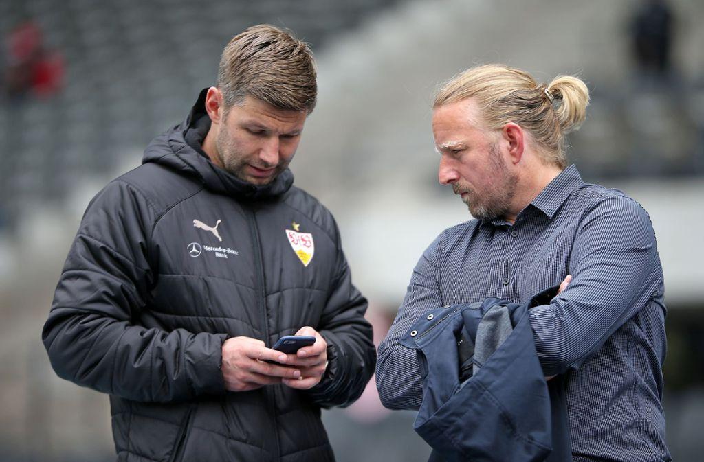 Die Neugestalter beim VfB Stuttgart: Thomas Hitzlsperger (li.), Sven Mislintat Foto: Baumann
