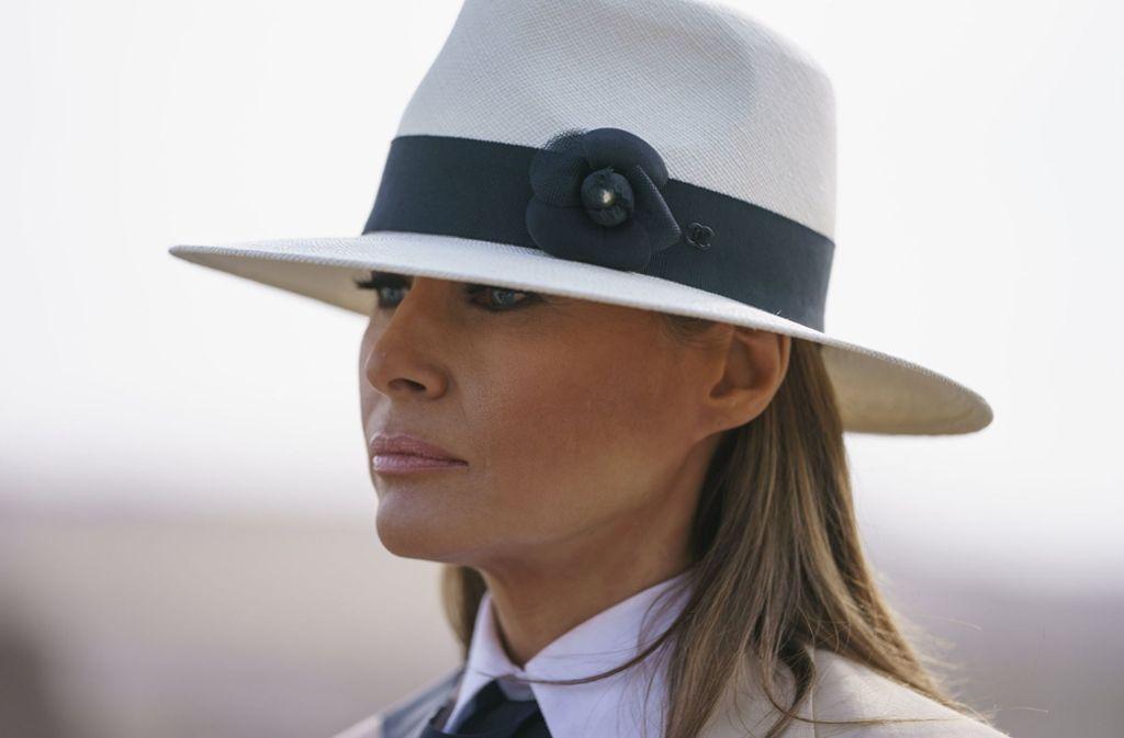 Keine First Lady zum Anfassen: Melania Trump bleibt gern im Hintergrund. Foto: AP/Carolyn Kaster