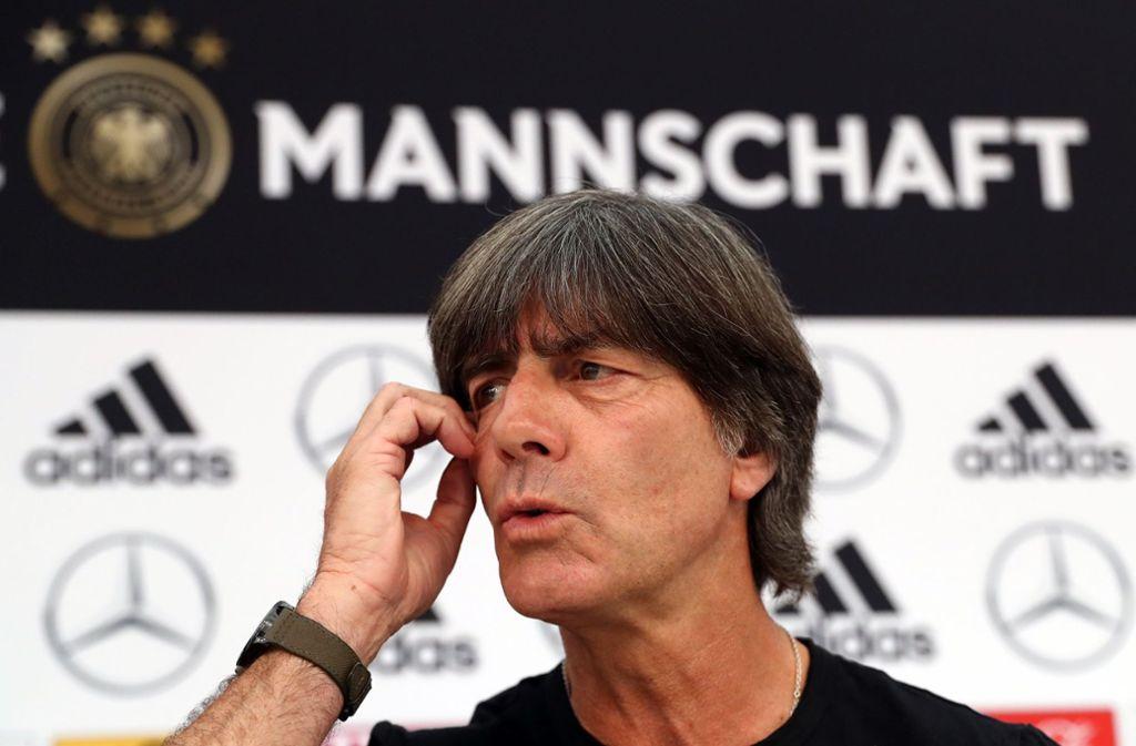 Angriffslustig und fokussiert: Bundestrainer Joachim Löw Foto: dpa