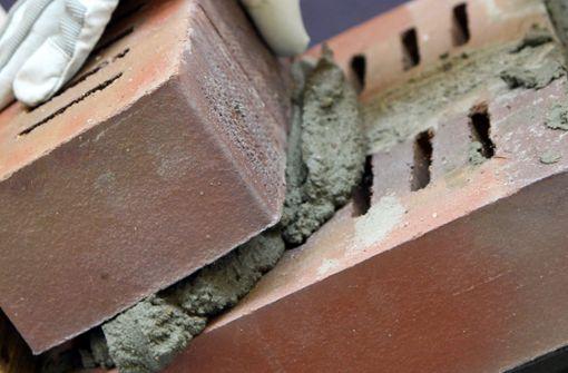 Unbekannte klauen Mörtelpumpe von Baustelle
