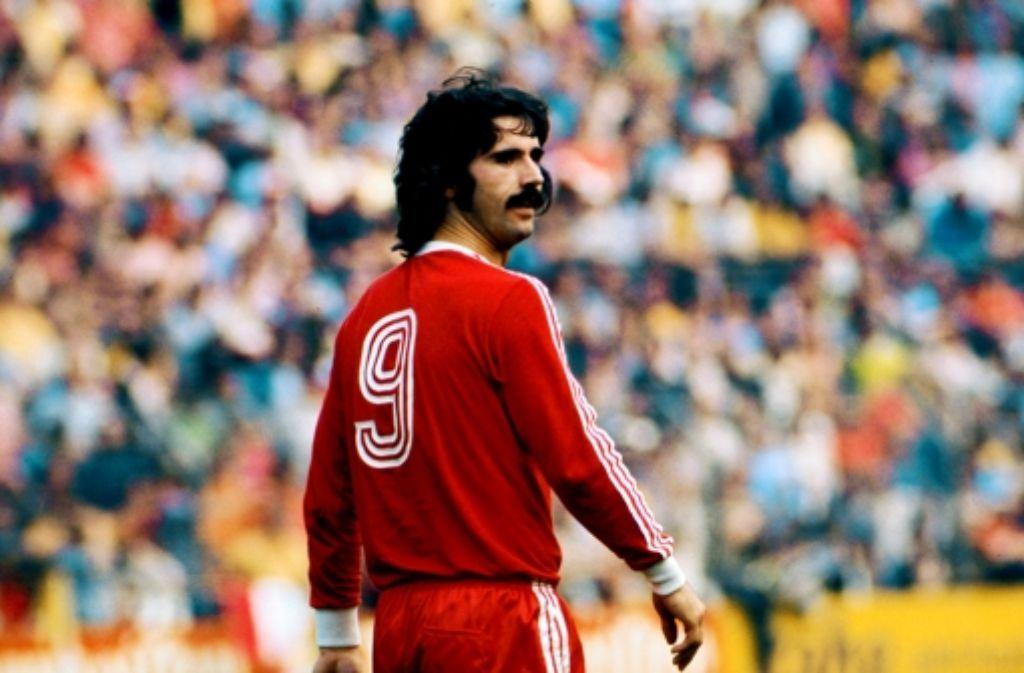 Gerd Müller in den 70ern für Bayern. Foto: dpa