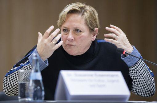 Susanne Eisenmann setzt sich für Corona-Massentests ein