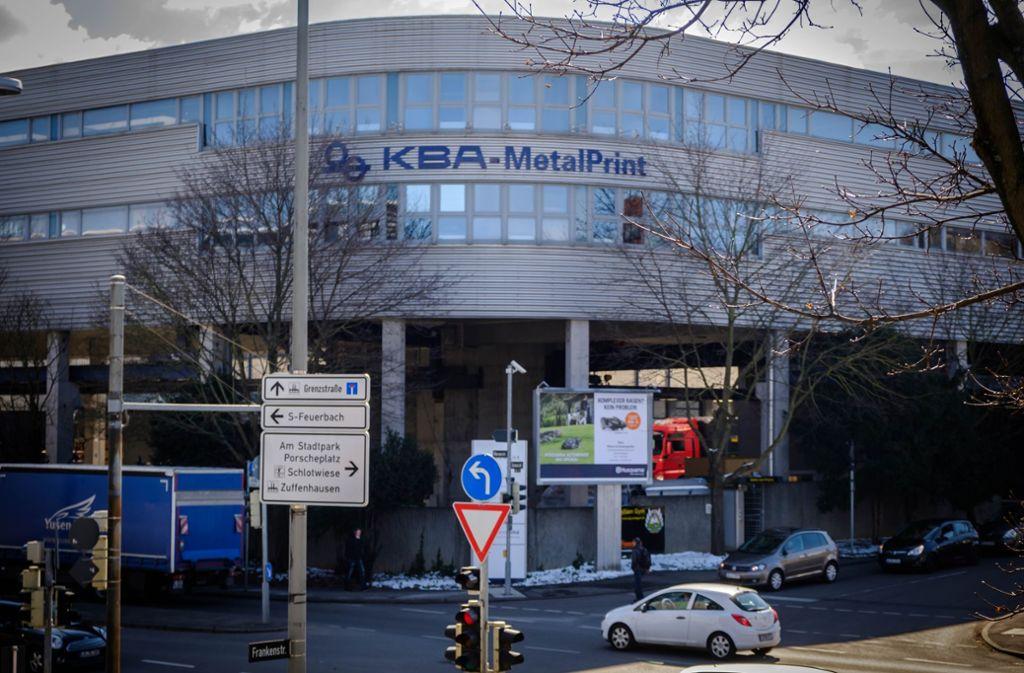 Opfer von Industriespionage?: Die Zentrale von KBA Metalprint in Stuttgart Foto: Lichtgut/Achim Zweygarth