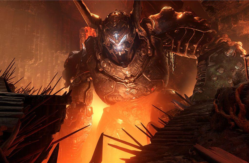 Der legendäre Shooter Doom ist zurück – und setzt Maßstäbe wie einst. Foto: Bethesda Softworks