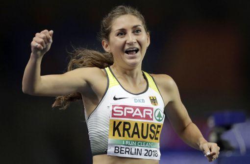 Hindernisläuferin Krause verteidigt ihren Titel