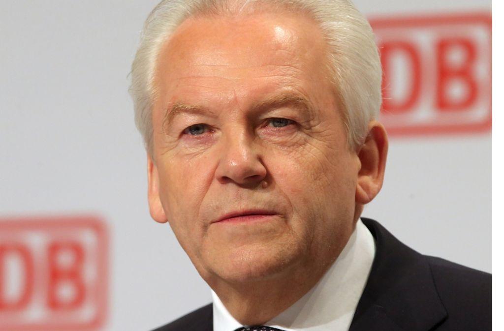 Muss das Land auf eine weitere Kostenübernahme bei Stuttgart 21 verklagen: Bahn-Chef Rüdiger Grube Foto: dpa