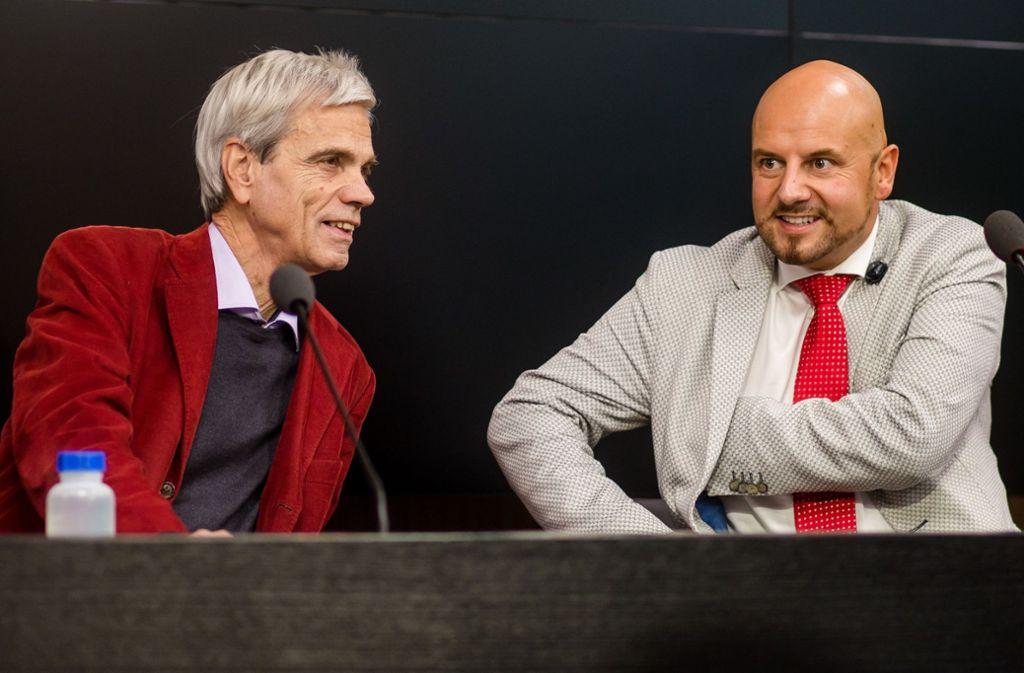 Wolfgang Gedeon (links) und Stefan Räpple sorgten für einen Eklat im Landtag. Foto: dpa