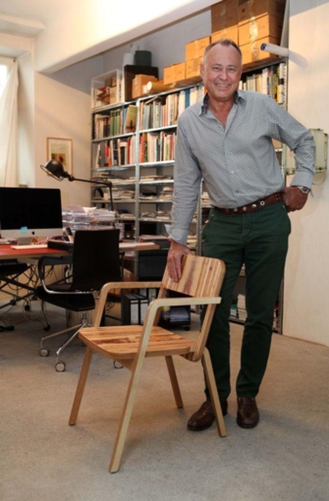"""Unverkennbares Design: der """"Prater Chair"""" von Richard Lampert steht auch im Google Headquarter in London. Foto: Lg/Jan Reich"""