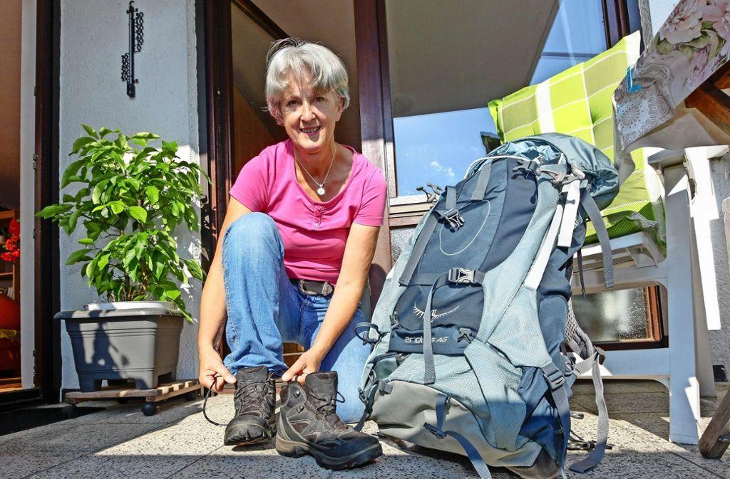 Marianne Birkmann aus Hirschlanden hat mehr als 1100 Kilometer auf dem Jakobsweg   in Deutschland zurückgelegt. Foto: factum/Bach