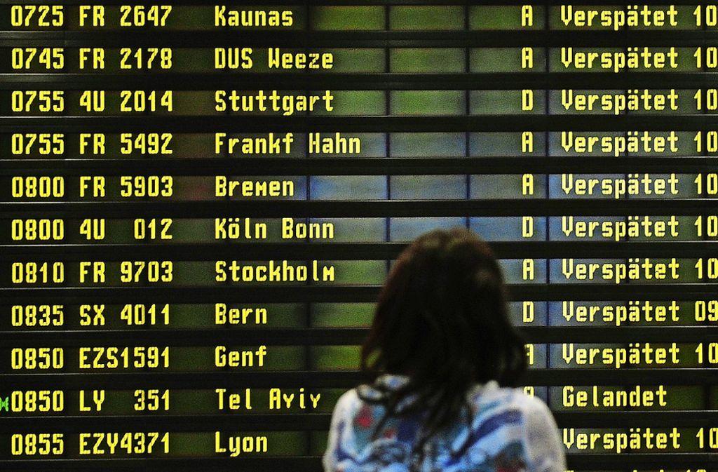 Viele Flugkunden trafen 2018 Verspätungen – ab drei Stunden Verzögerung steht ihnen eine Entschädigung zu. Foto: dpa