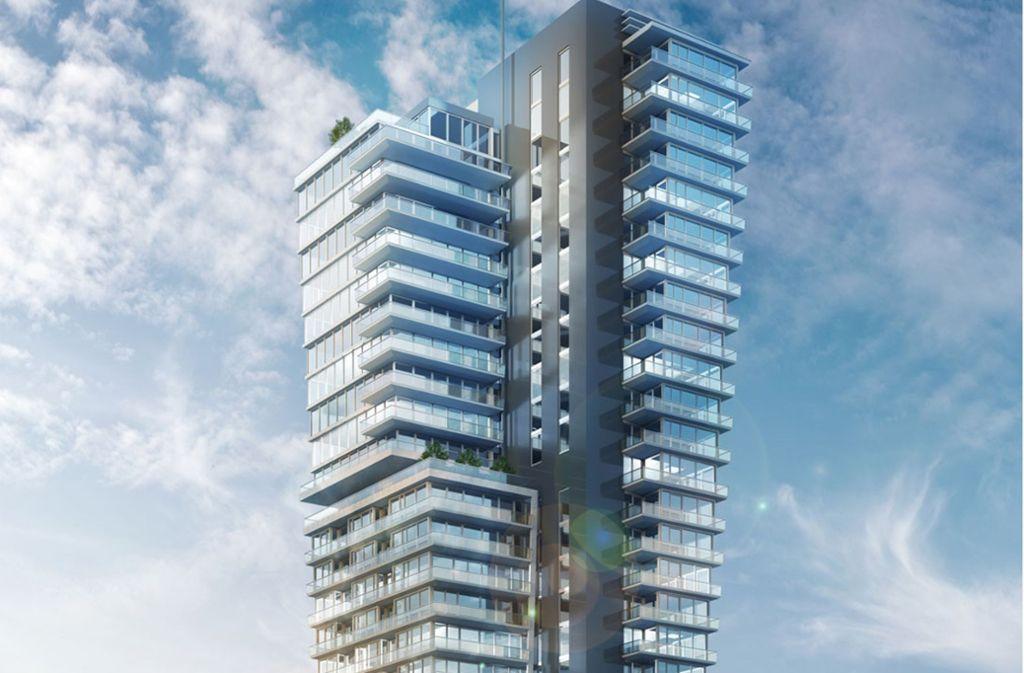Ein jüngerer Entwurf, wie der Fellbacher Tower künftig aussehen soll. Foto: CG Gruppe/Jörg Wolf