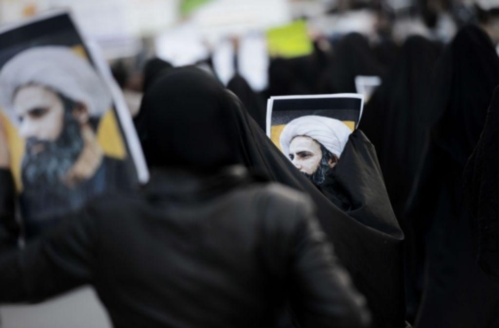 Mit der am Geistlichen Nimr al-Nimr vollstreckten  Todesstrafe will Saudi-Arabien demonstrieren, dass es bereit ist, seine Rivalität mit dem Iran stärker zu eskalieren. Foto: AFP