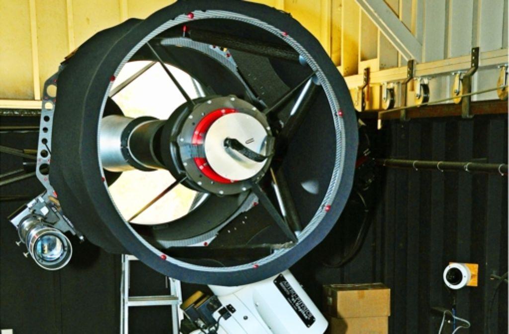 Das ferngesteuerte Teleskop der Uni Stuttgart steht in der Sierra Nevada ein, weil die Lichtverhältnisse optimal sind. Foto: Zintz