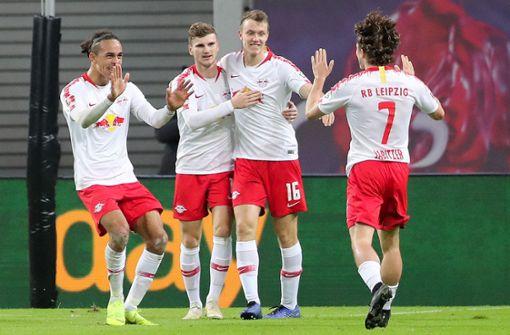 Leipzig besiegt Leverkusen und klettert auf dritten Platz