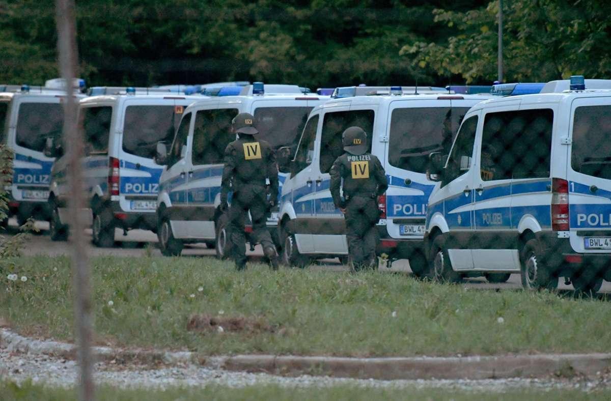 Der Polizeieinsatz in Ellwangen im Mai 2018 hatte bundesweit für Schlagzeilen gesorgt. (Archivfoto) Foto: AFP/STEFAN PUCHNER