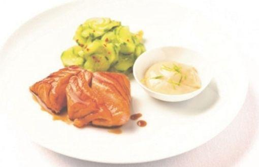 Lachs Tataki aus dem Kochbuch von Stevan Paul