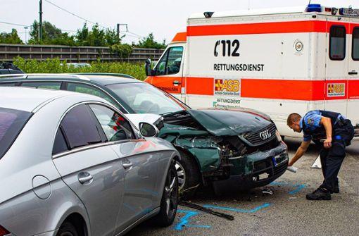 Wettrennen führt zu Unfall mit  vier Verletzten