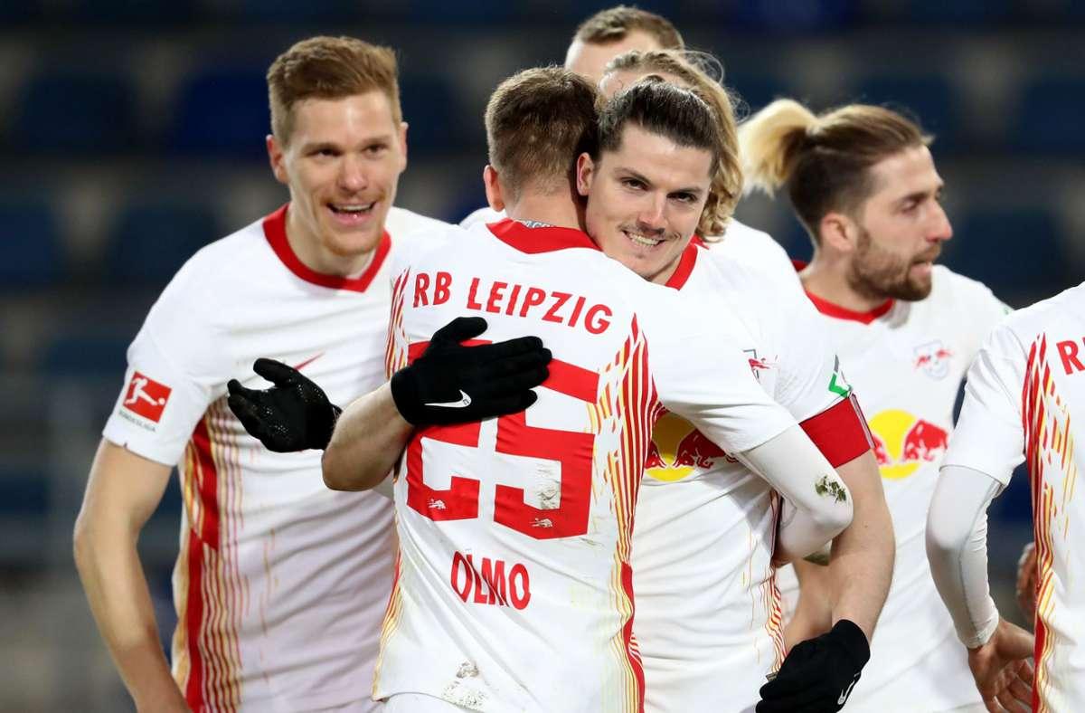 Marcel Sabitzer (Mite) markierte den einzigen Treffer des Abends. Foto: dpa/Friso Gentsch