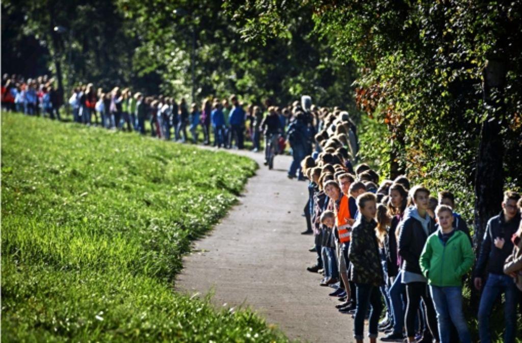 Rund 1300 Schüler haben sich an der Aktion in Weissach im Tal beteiligt. Foto: Gottfried Stoppel