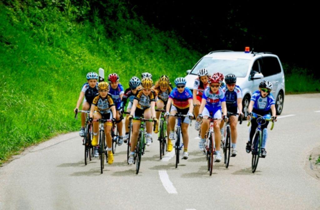 Der Verein bei einem Straßenrennen am Wochenende. Foto: privat