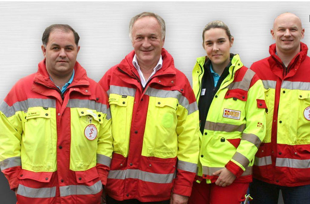 Der Arzt Manfred Frenzel (Zweiter von links) mit seinen Kollegen Thomas Rinkler, Cornelia Banz und Marcus Michna. Foto: privat