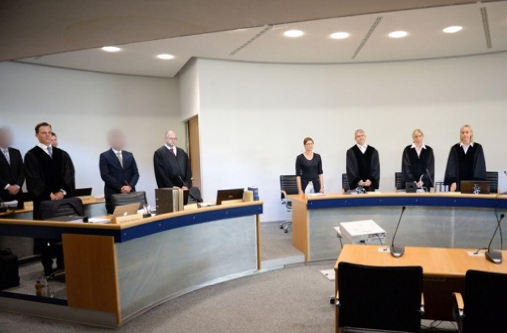 Im Landgericht Stuttgart wird der Wasserwerfer-Prozess verhandelt. Foto: dpa