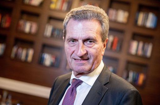 Kann sich Günther Oettinger das Präsidentenamt vorstellen?