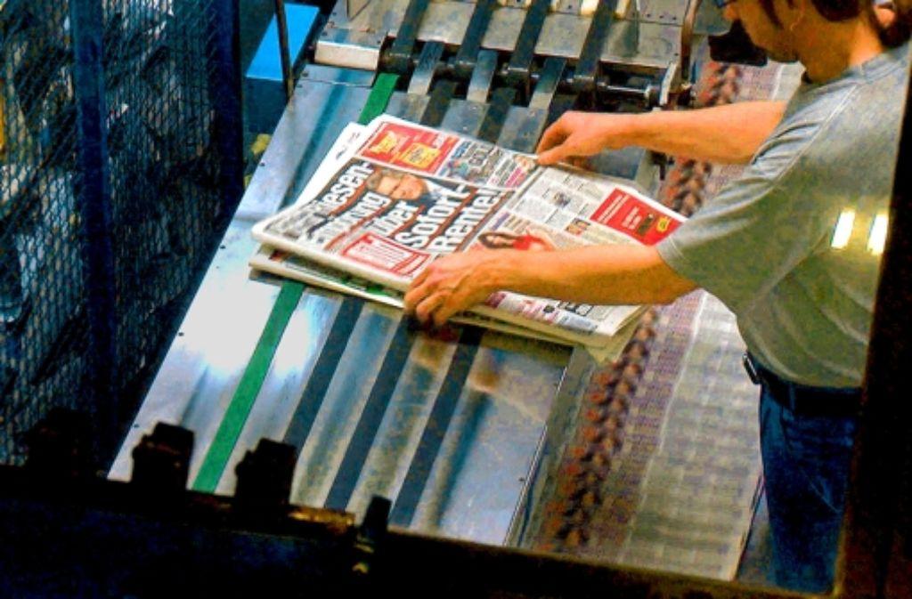 Seit 60 Jahren wird die Bildzeitung gedruckt. Foto: WDR Presse und Information/Bildk