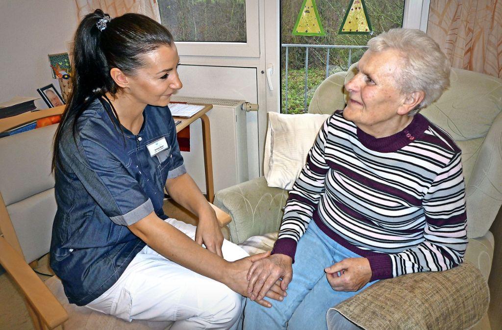 Die Pflegekräfte sollen bei der Wilhelmshilfe in Zukunft wieder mehr Zeit für ihr eigentliches Tun haben. Foto: Heidner/Wilhelmshilfe