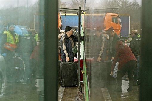 Koreanische Reisegruppe muss warten