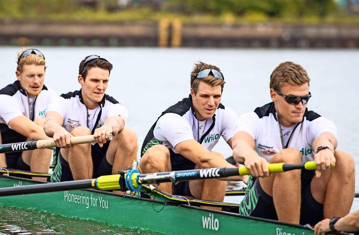 Für Richard Schmidt (2.v.li.) sind die Olympischen Spiele das Größte Foto: imago/Elmar Kremser