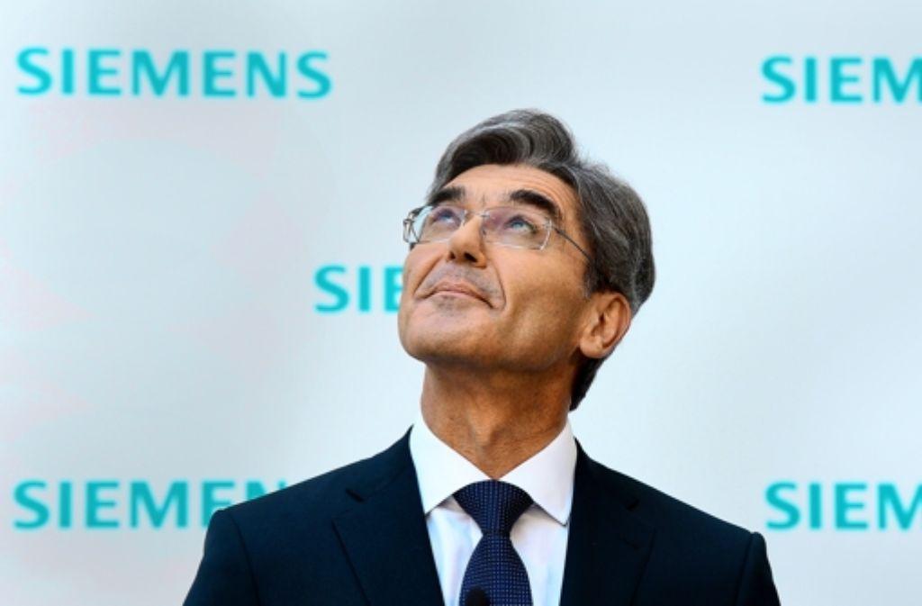 Joe Kaeser rückt deutlich von den Renditezielen und den Umsatzplänen seines Vorgängers Peter Löscher ab. Foto: AFP