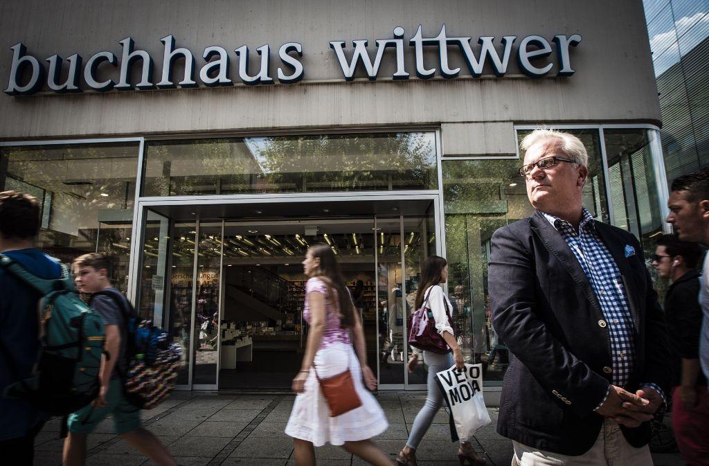 Viele kennen das Buchhaus Wittwer als die größte Buchhandlung der Stadt. Einige Konservative meinen nun, hier einen Hort der Intoleranz enttarnt zu haben. Foto: Leif Piechowski