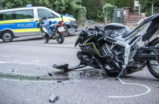 Schwerer Motorradunfall am Hallschlag