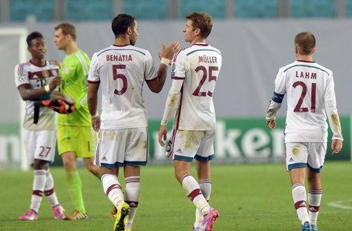 Bayern gewinnen 1:0 in Moskau