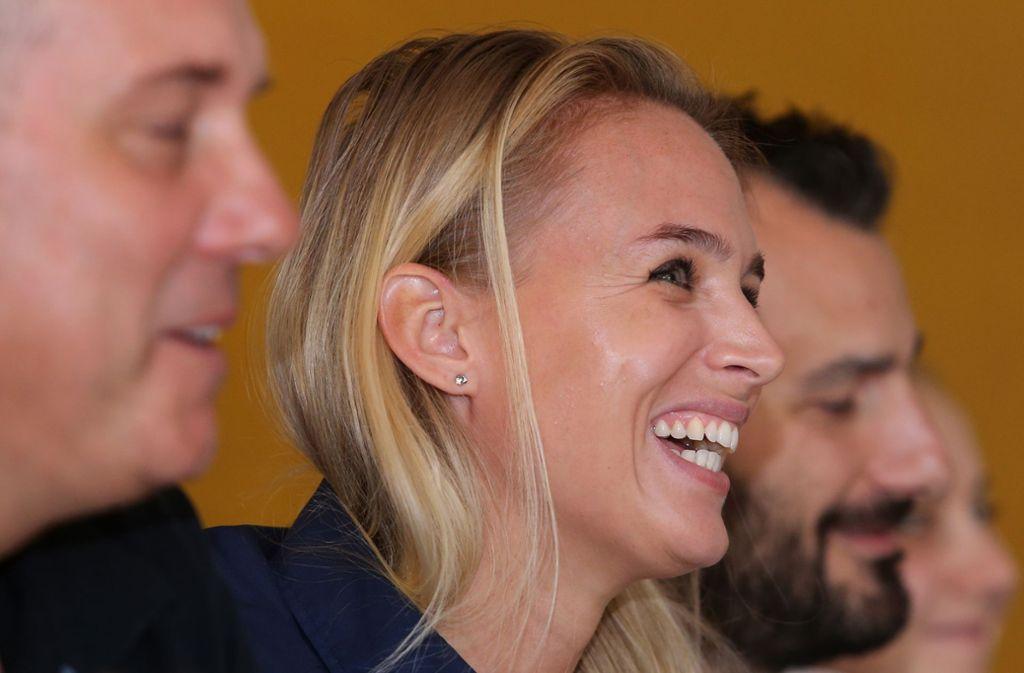 Allianz-MTV-Sportchefin Kim Renkeman freut sich auf die neue Runde.Der Neuzugang Roosa Koskelo meldet sich wieder fit. Foto: Baumann