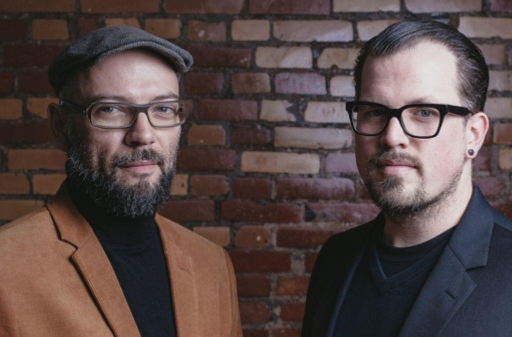 Marc C. Woehr (links) und Daniel Unger möchten weg von temporären Sachen und eine Institution für urbane Kunst etablieren. Foto: Harald Völkl