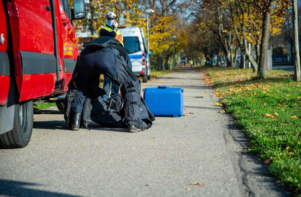 Der Koffer war leer. Foto: 7aktuell.de/Nils Reeh