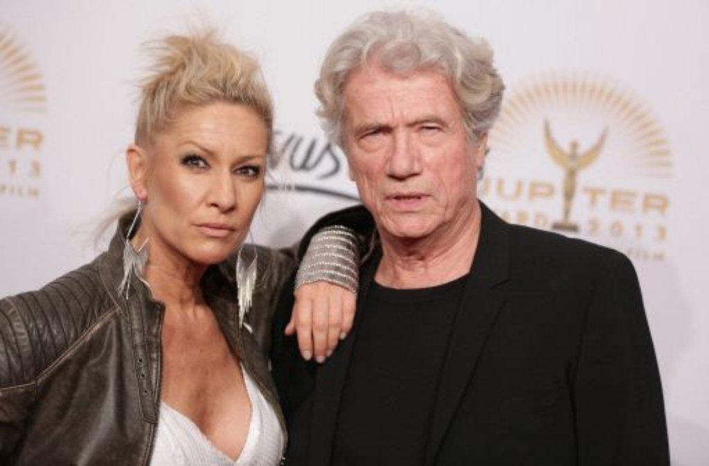 Jupiter-Award fürs Lebenswerk: Hollywood-Star Jürgen Prochnow und seine Frau Birgit Stein. Foto: dpa