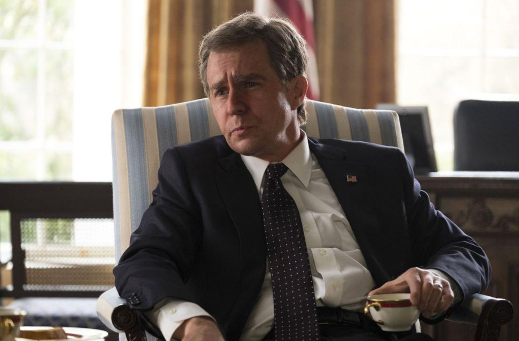 "Filmszene aus ""Vice"": Sam Rockwell spielt George W. Bush. Foto: Annapurna Pictures"