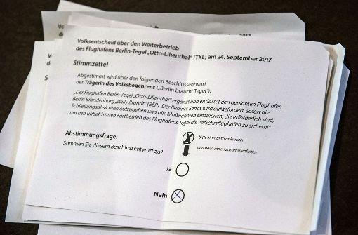 Deutliche Mehrheit für Weiterbetrieb von Flughafen Tegel