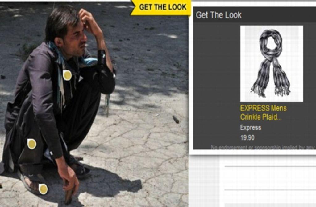 Ein Taliban macht Werbung für einen Schal? Dank Automatik ist das möglich. Foto: StZ
