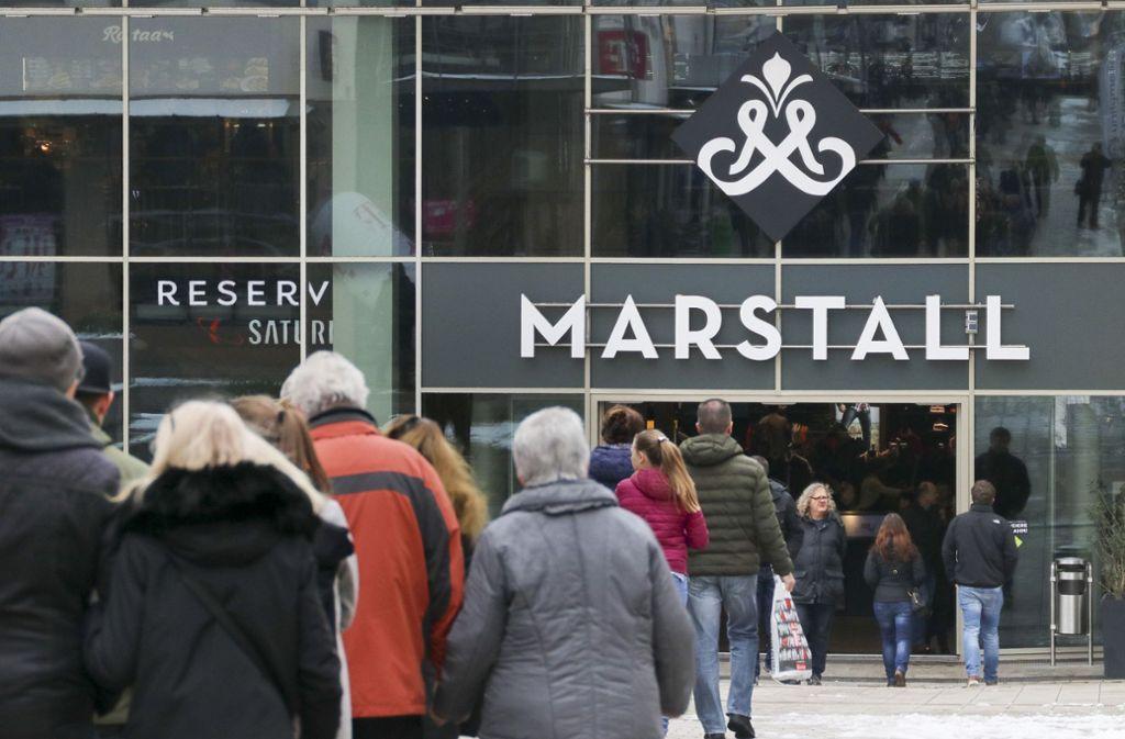Im Einkaufszentrum Marstall in Ludwigsburg wird umgebaut: so zieht dort der Sportartikelhändler Decathlon ein. Foto: factum/Granville