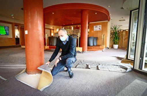 Der Hotelier nutzt die Flaute zum Sanieren